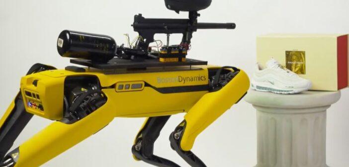 Spot: Boston Dynamics condemns robot paintball rampage plan