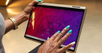 Latest Lenovo Yoga tablet has an HDMI input, so you can connect up your console on the go
