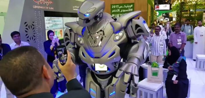 WATCH: king of Bahrain's robot bodyguard is changing the face of warfare