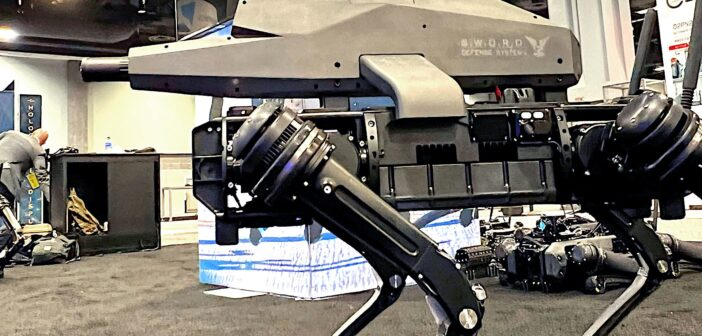 Robot dogs are getting guns